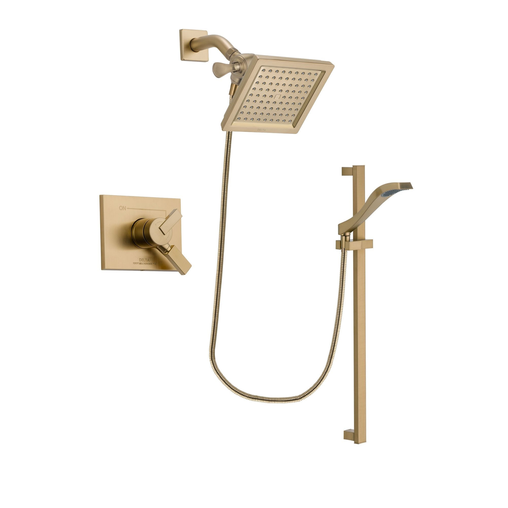 Delta Vero Champagne Bronze Shower Faucet System with Hand Shower DSP3932V