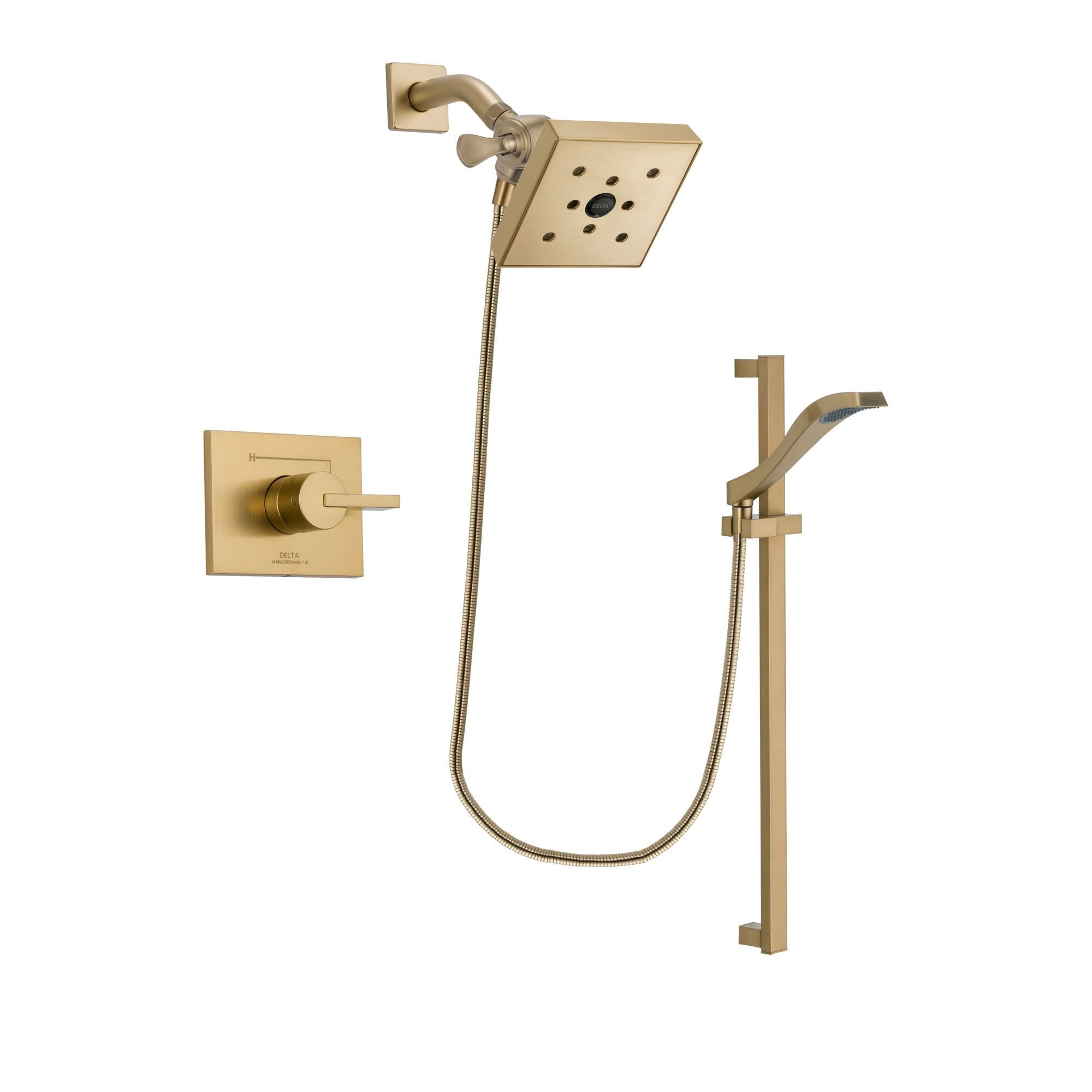 Delta Vero Champagne Bronze Shower Faucet System with Hand Shower DSP3940V