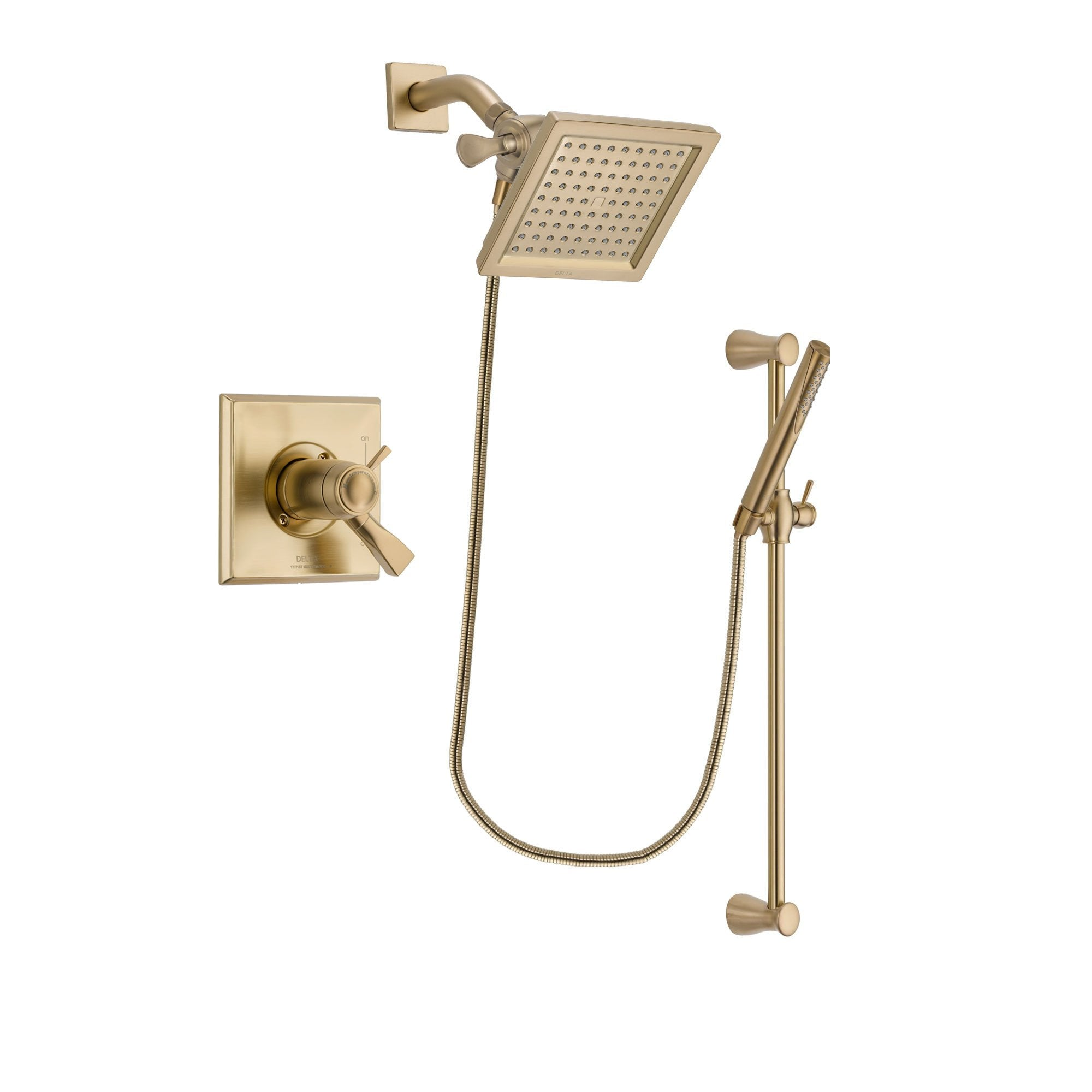 Delta Dryden Champagne Bronze Shower Faucet System with Hand Shower DSP3958V