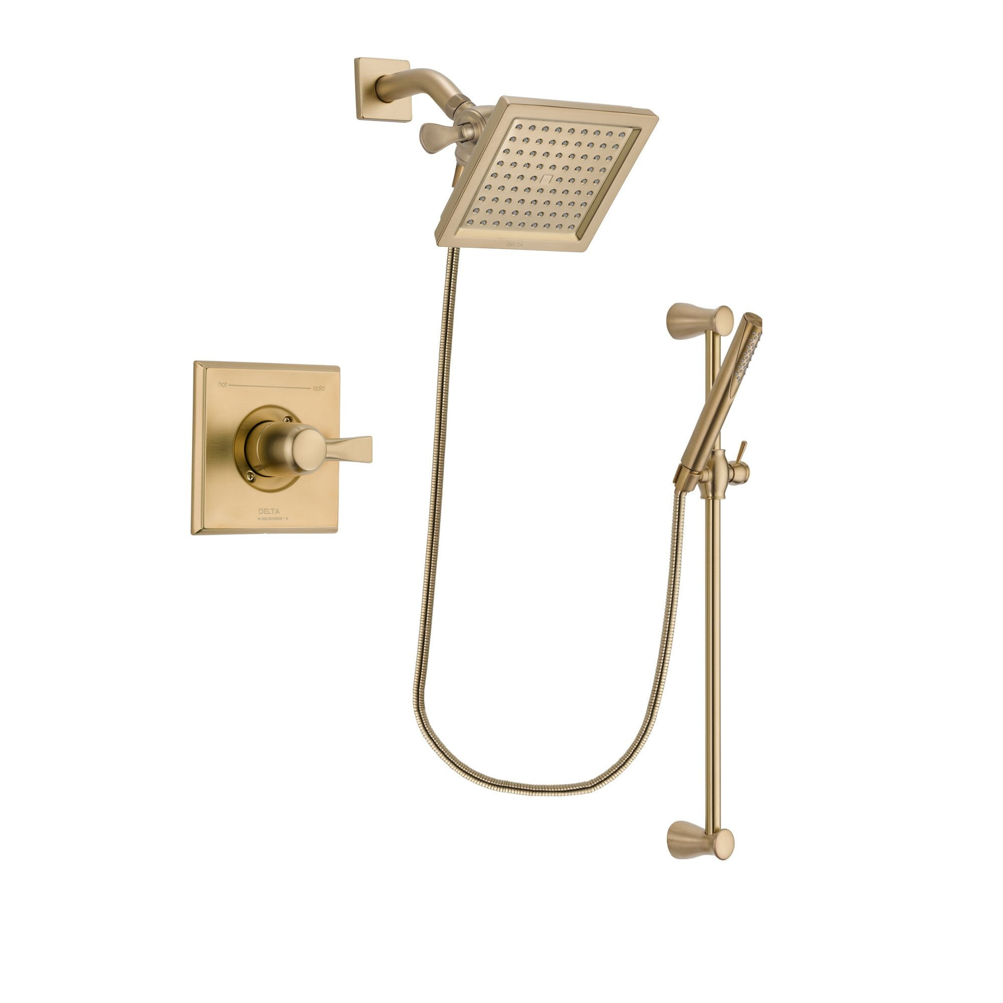 Delta Dryden Champagne Bronze Shower Faucet System with Hand Shower DSP3962V