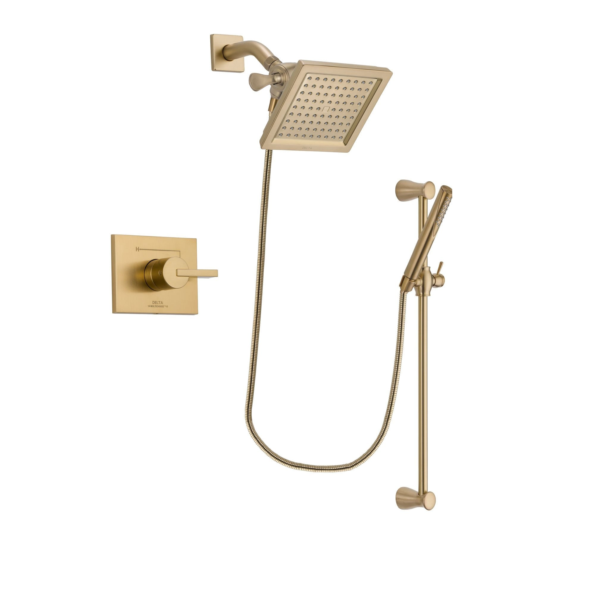 Delta Vero Champagne Bronze Shower Faucet System with Hand Shower DSP3964V