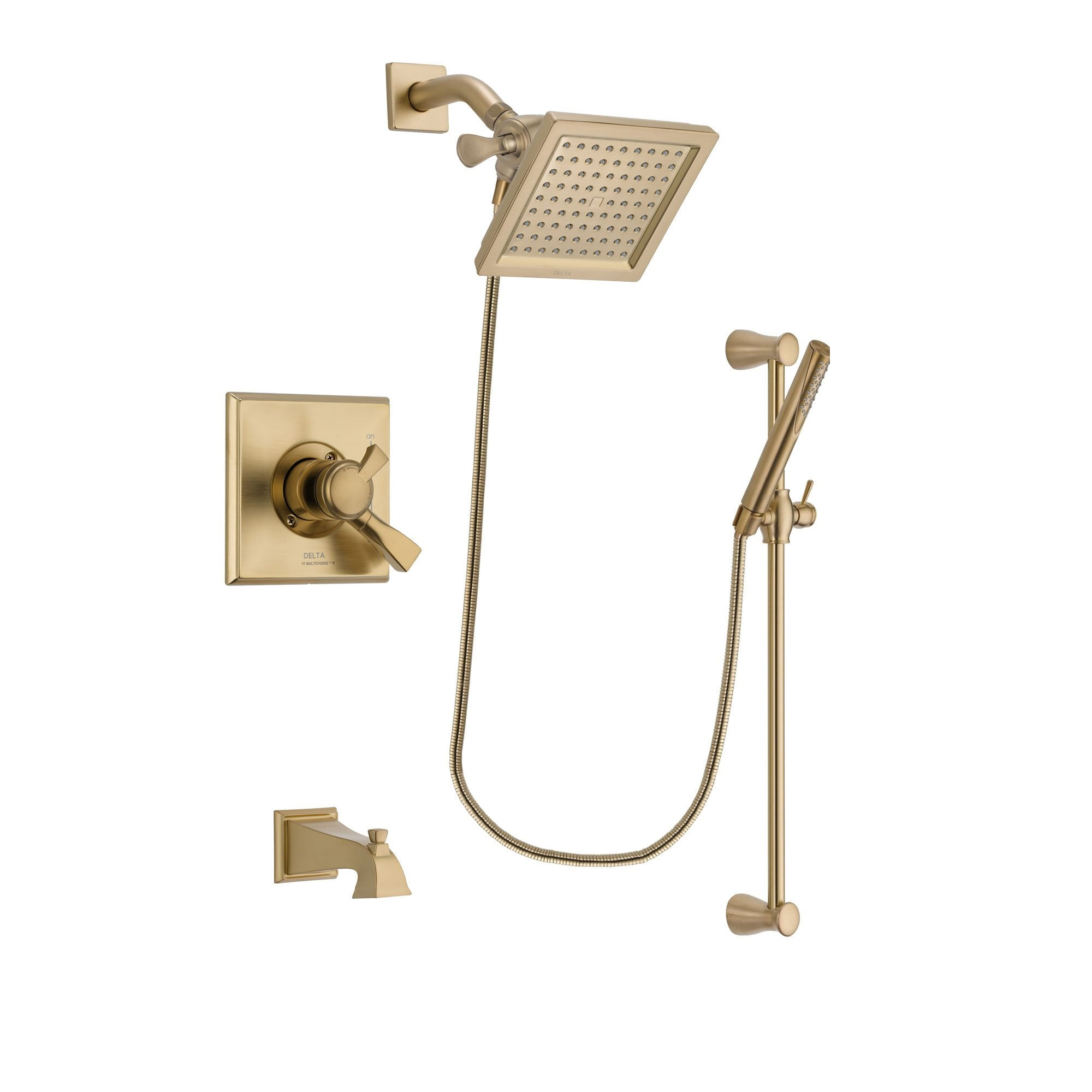 Delta Dryden Champagne Bronze Tub and Shower System with Hand Shower DSP3965V