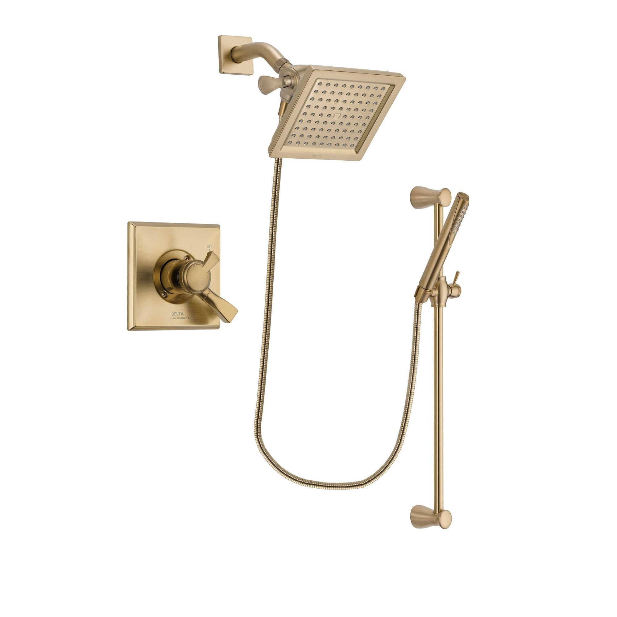Delta Dryden Champagne Bronze Shower Faucet System With Hand Shower Dsp3966v