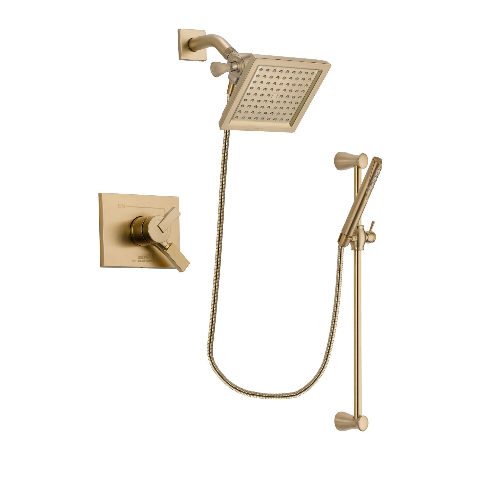Delta Vero Champagne Bronze Shower Faucet System with Hand Shower DSP3968V