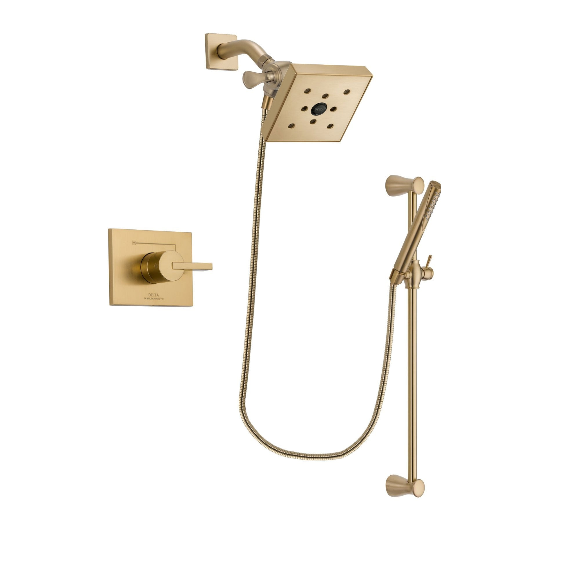 Delta Vero Champagne Bronze Shower Faucet System with Hand Shower DSP3976V
