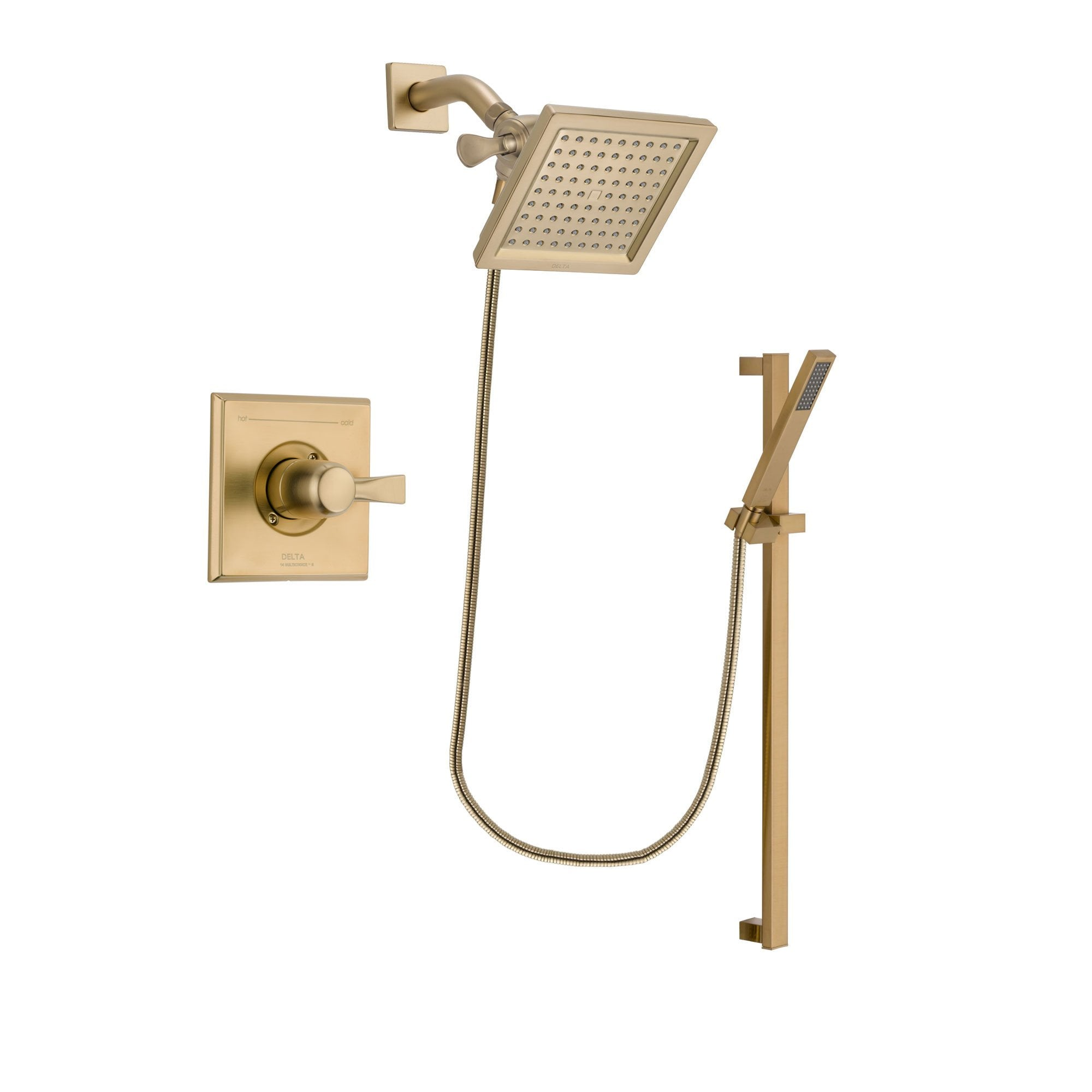 Delta Dryden Champagne Bronze Shower Faucet System with Hand Shower DSP3998V