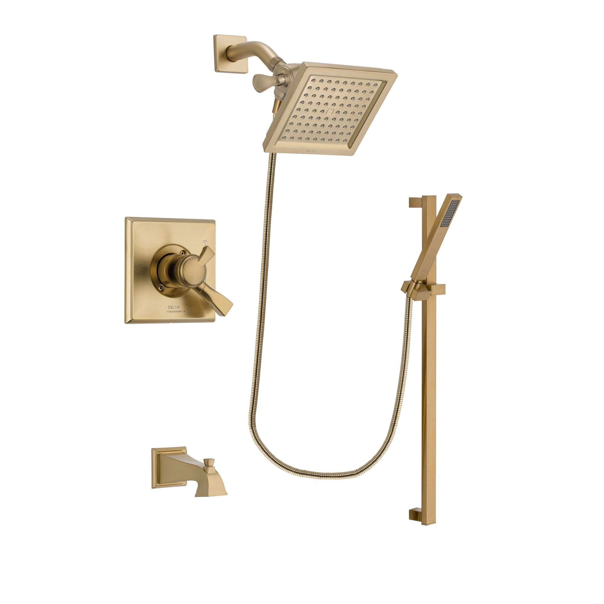 Delta Dryden Champagne Bronze Tub and Shower System with Hand Shower DSP4001V