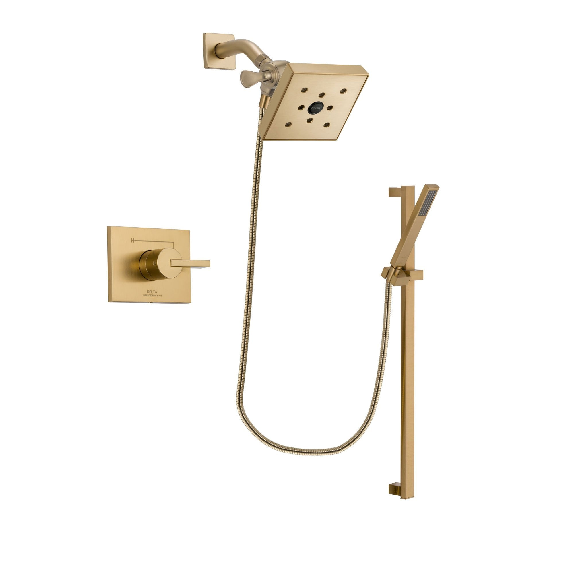 Delta Vero Champagne Bronze Shower Faucet System with Hand Shower DSP4012V