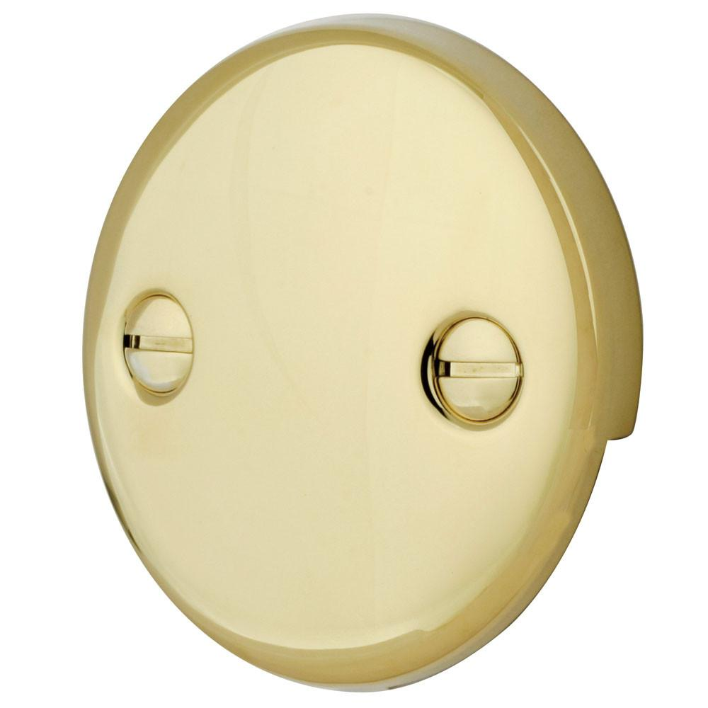 Kingston Brass Polished Brass Tub 2 Hole Overflow Cover