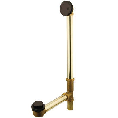 "Kingston Oil Rubbed Bronze 18"" Tub Waste & Overflow with Tip Toe Drain DTT2185"