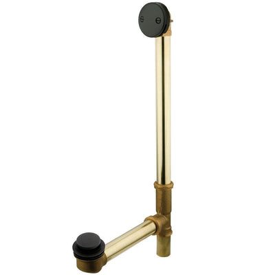 "Kingston Oil Rubbed Bronze 20"" Tub Waste & Overflow with Tip Toe Drain DTT2205"