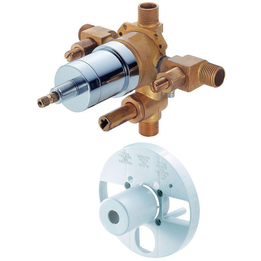 Danze Single-Handle Pressure Balance Mixing Valve with Screwdriver Stops and Diverter in Rough Brass 287185