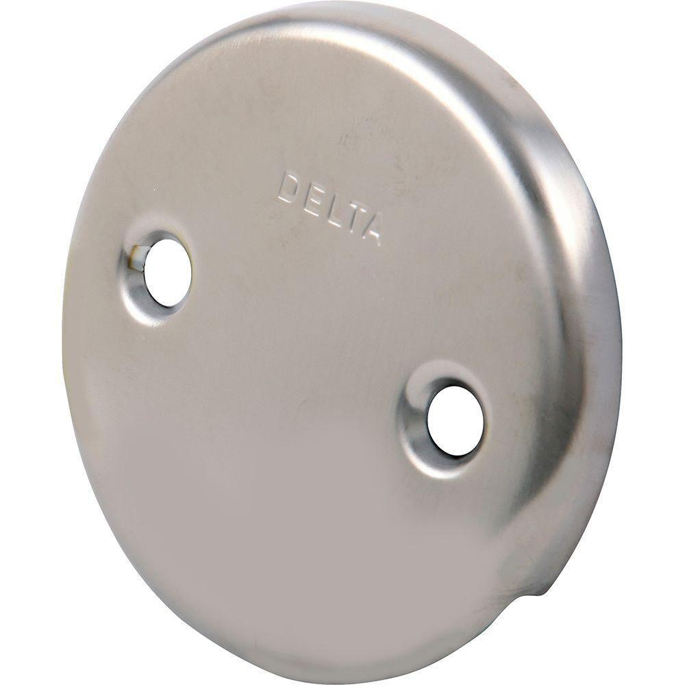 Delta Overflow Plate in Stainless Steel Finish 472351