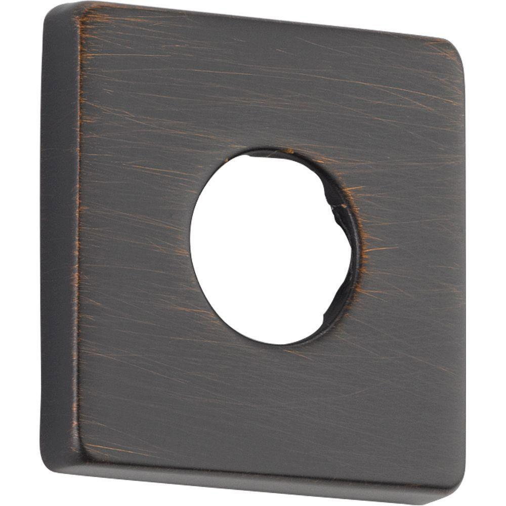 Delta Square Shower Arm Flange in Venetian Bronze 564438