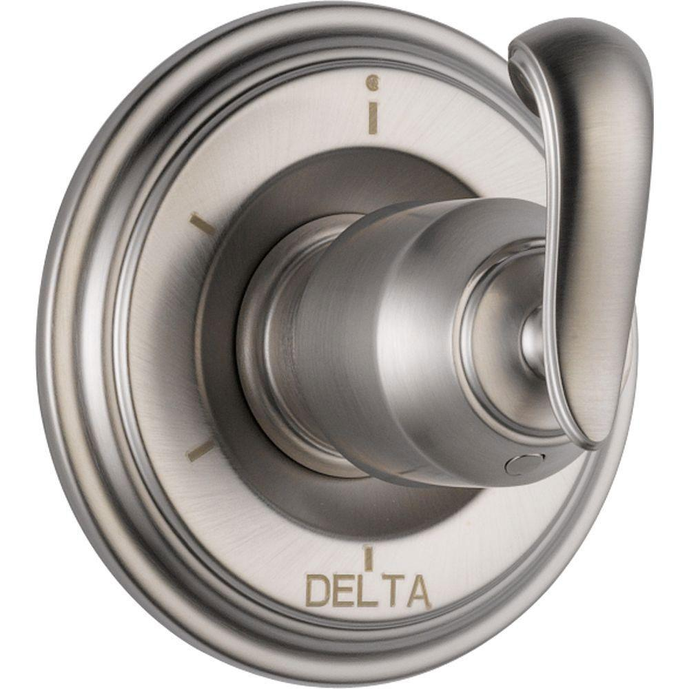 Delta Cassidy 6-Function Diverter Trim Kit Only in Stainless Steel Finish (Valve Not Included) 582226