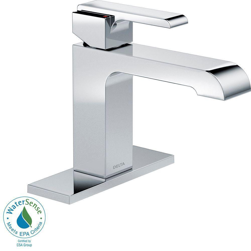 Delta Ara Single Hole 1-Handle Bathroom Faucet in Chrome - Less Pop-Up 660180