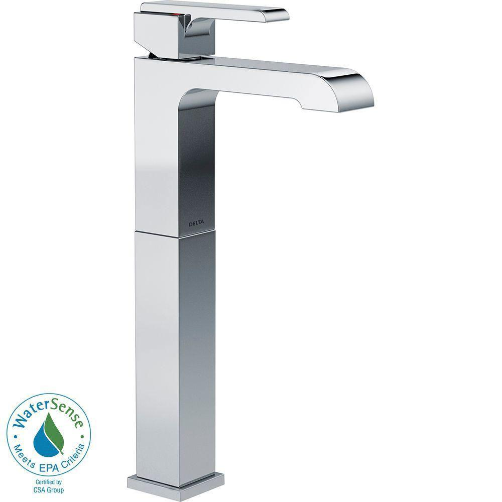 Delta Ara Single Hole 1-Handle Vessel Bathroom Faucet in Chrome 660182