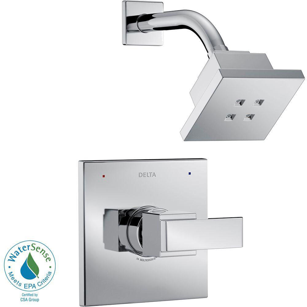 Delta Ara 1-Handle Shower Faucet Trim Kit in Chrome Featuring H2Okinetic (Valve Not Included) 660186