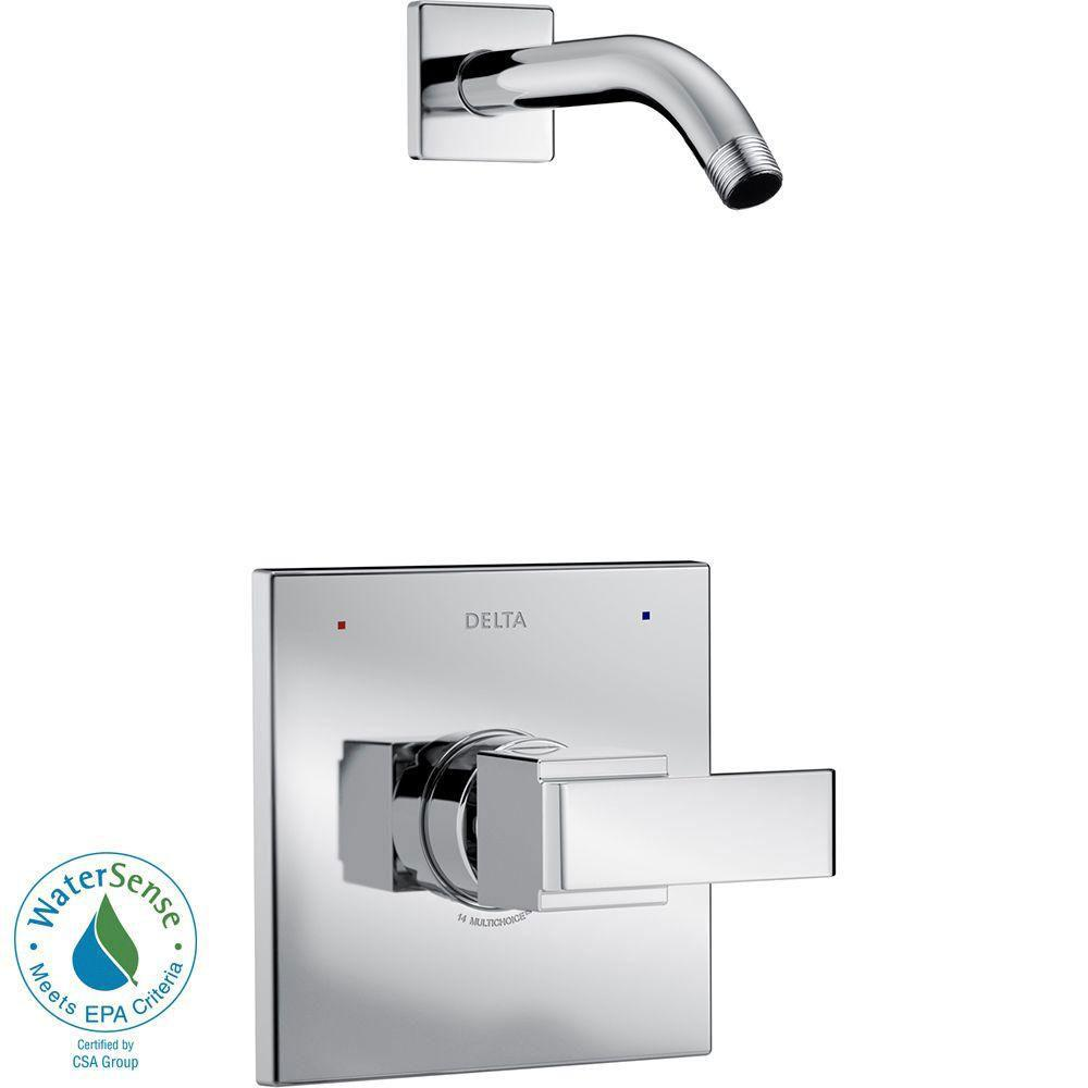 Delta Ara 1-Handle Shower Faucet Trim Kit in Chrome with Less Showerhead (Valve Not Included) 660187