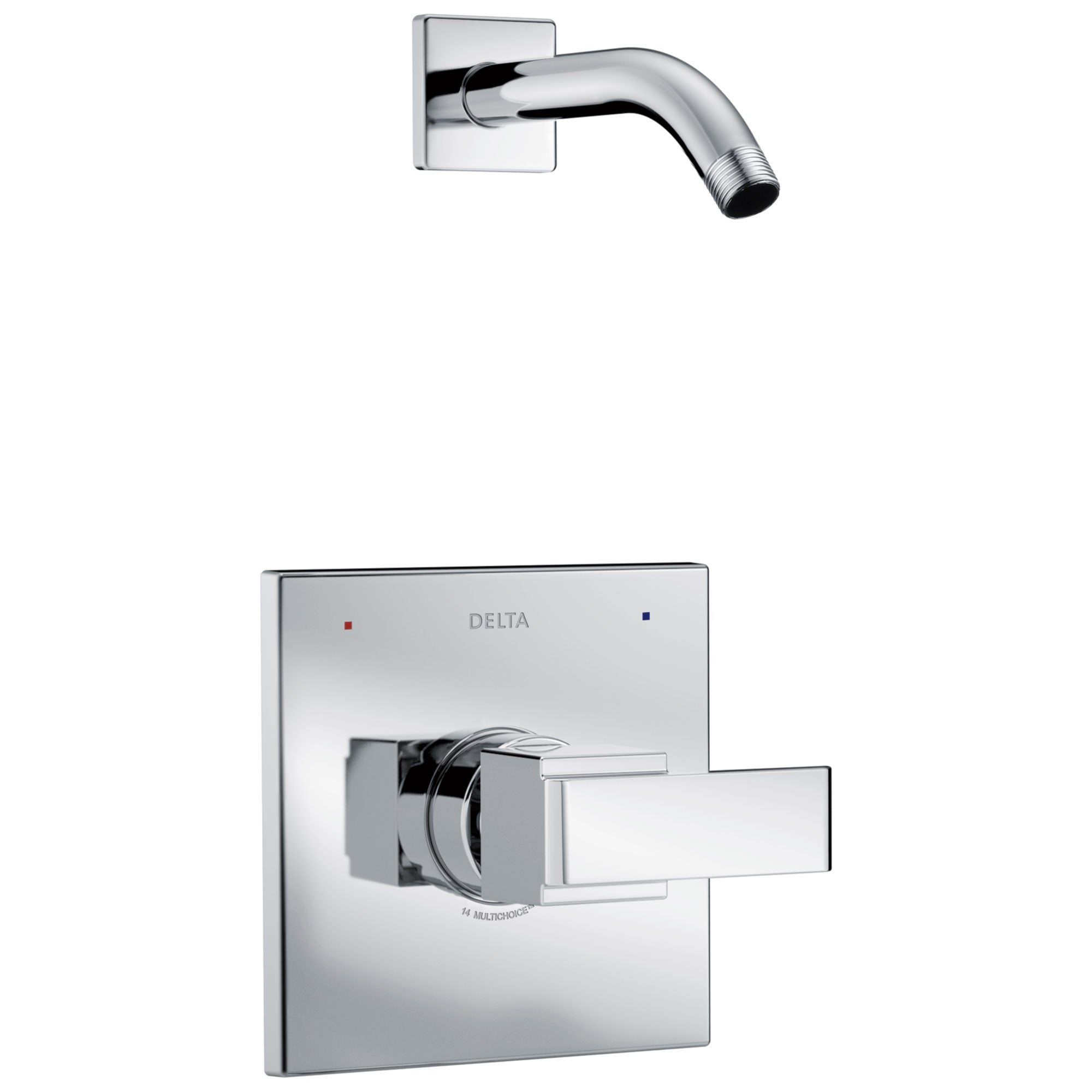 Delta Ara 1-Handle Shower Faucet Trim Kit in Chrome with Less Showerhead Includes Rough-in Valve with Stops D2561V