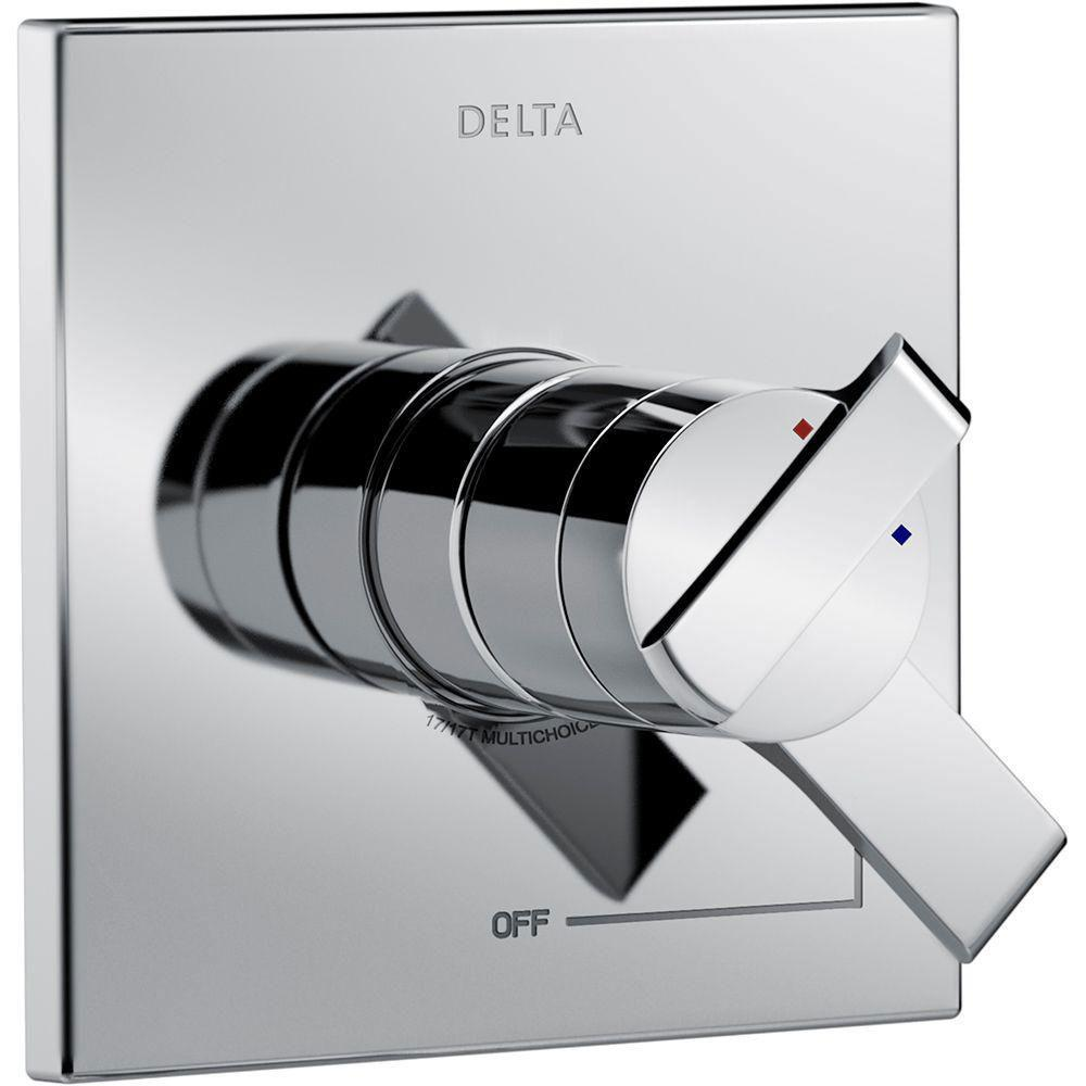 Delta Ara Monitor 17 Series 1-Handle Volume and Temperature Control Valve Trim Kit in Chrome (Valve Not Included) 660192
