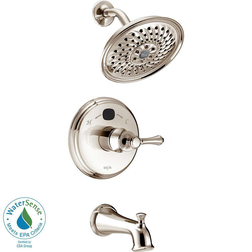 Delta Temp2O Traditional 1-Handle Tub and Shower Faucet Trim Kit in Polished Nickel (Valve Not Included) 667490