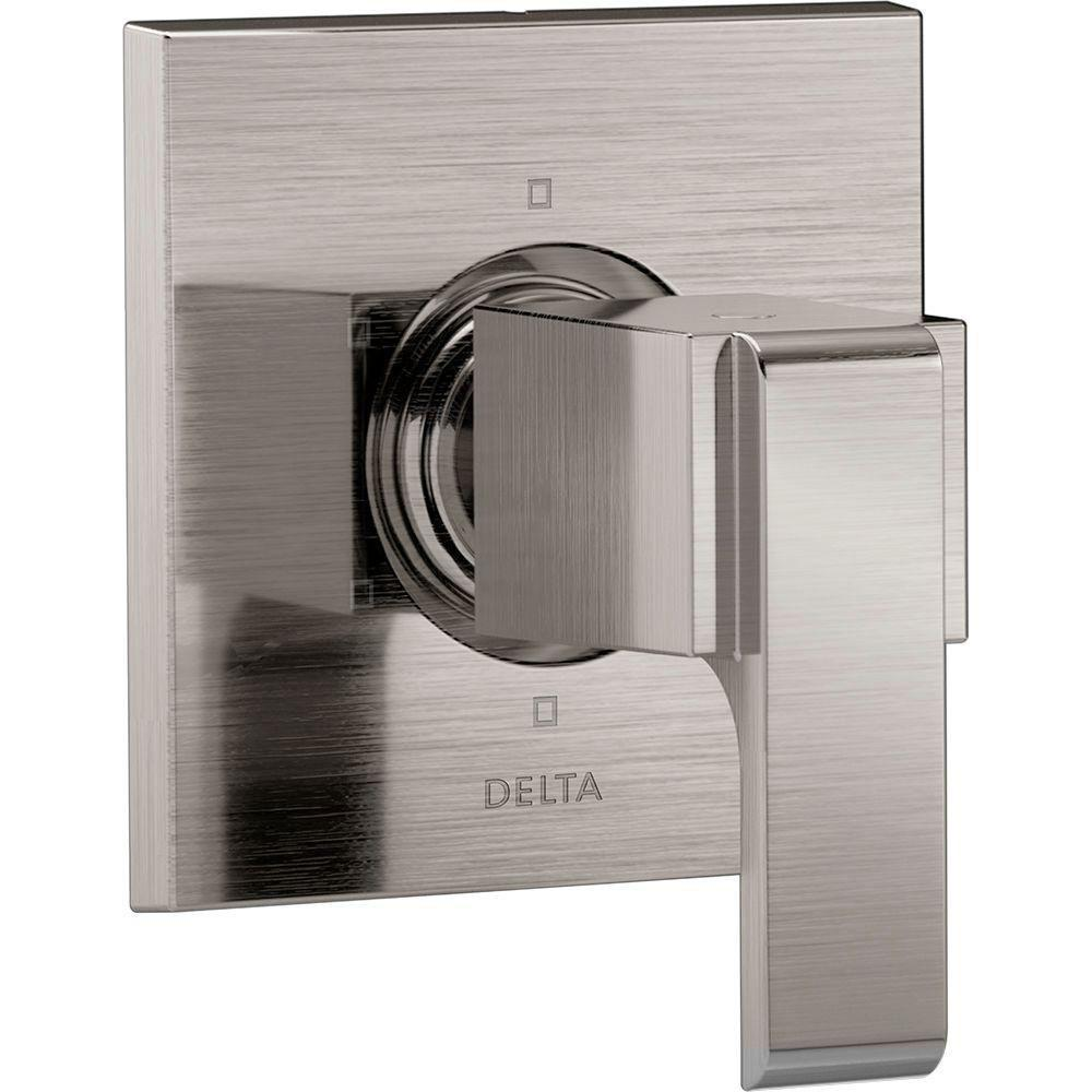 Delta Ara 1-Handle 6-Setting Custom Shower Diverter Valve Trim Kit in Stainless Steel Finish (Valve Not Included) 669939