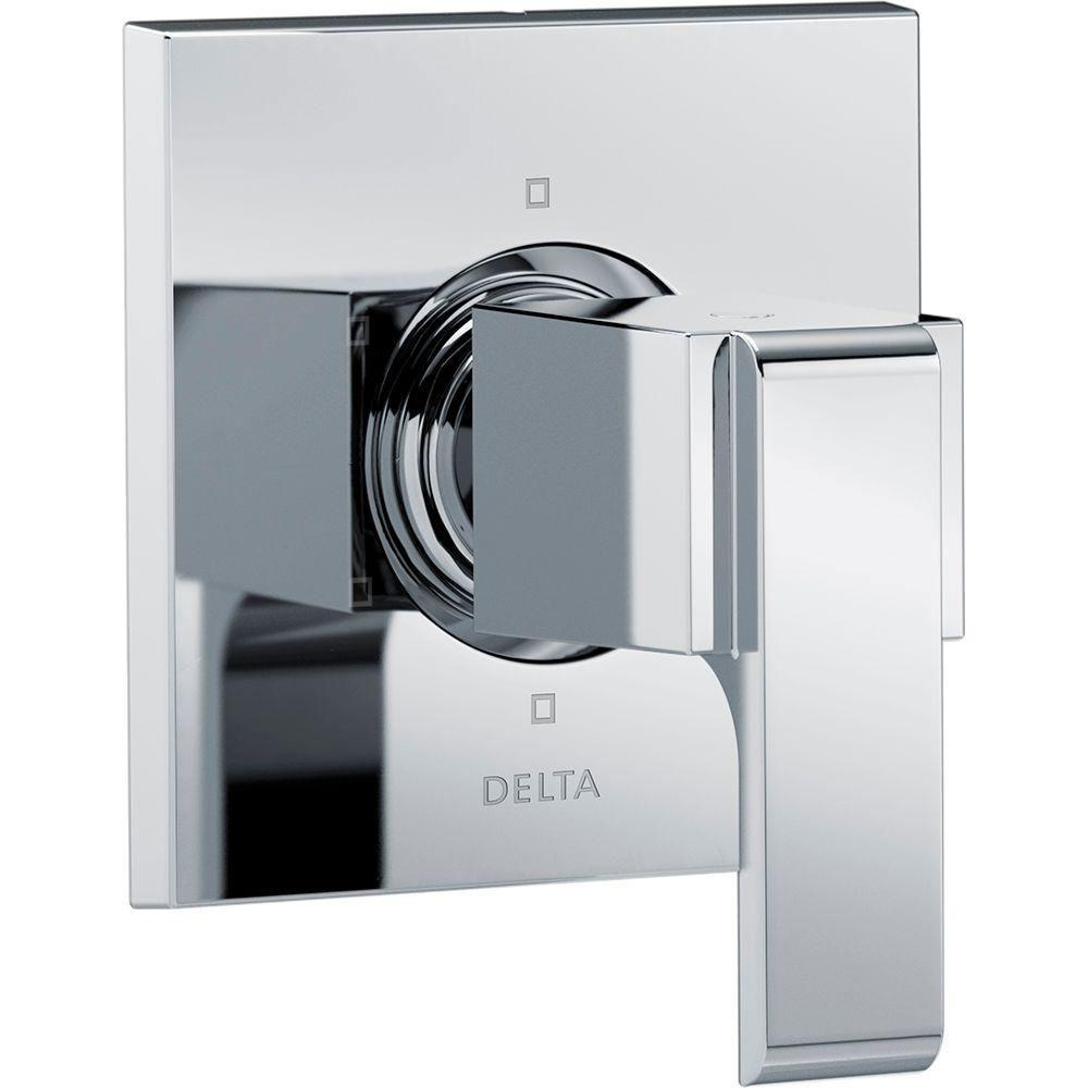 Delta Ara 1-Handle 6-Setting Custom Shower Diverter Valve Trim Kit in Chrome (Valve Not Included) 682966