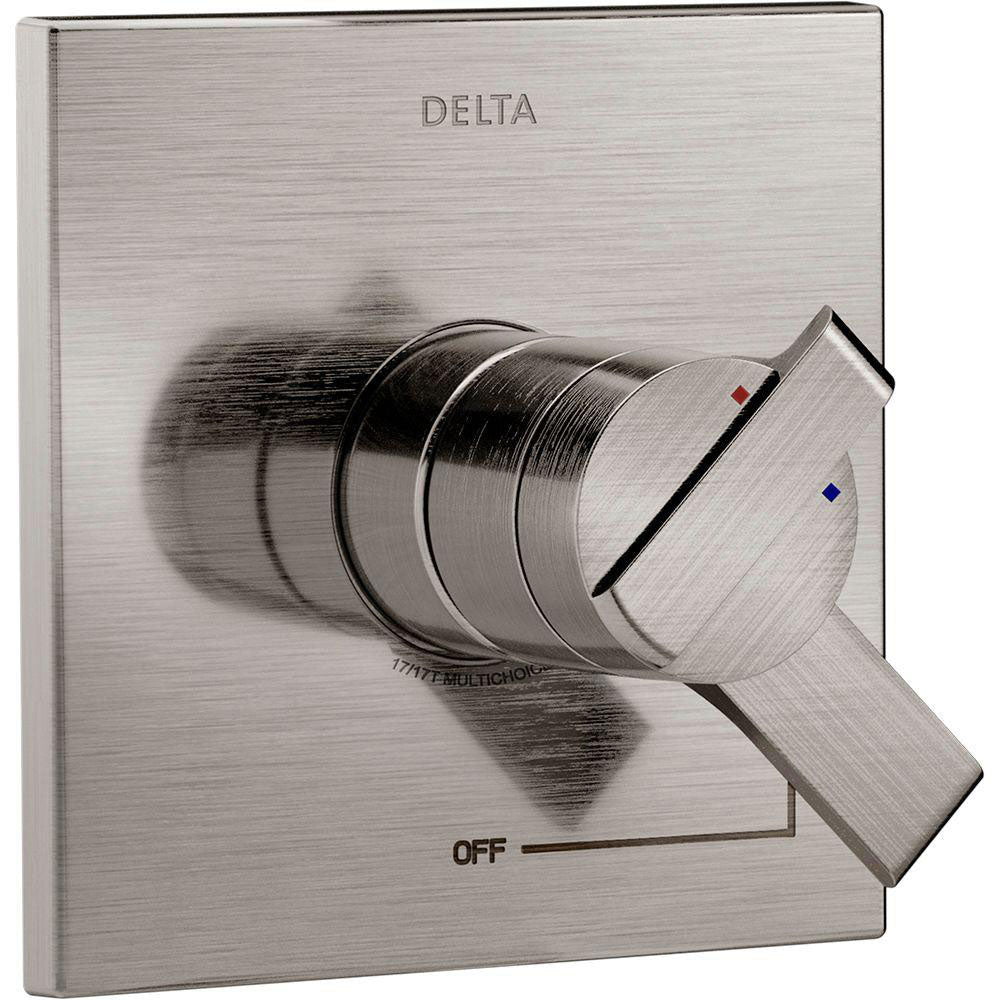 Delta Ara Monitor 17 Series 1-Handle Volume and Temperature Control Valve Trim Kit in Stainless Steel Finish (Valve Not Included) 682973