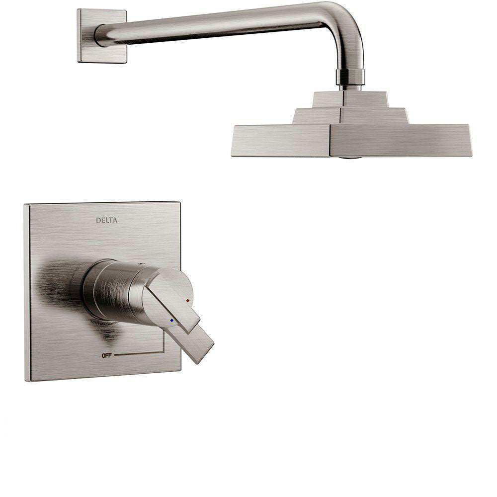 Delta Ara TempAssure 17T Series 1-Handle Shower Faucet Trim Kit Only in Stainless Steel Finish (Valve Not Included) 682976