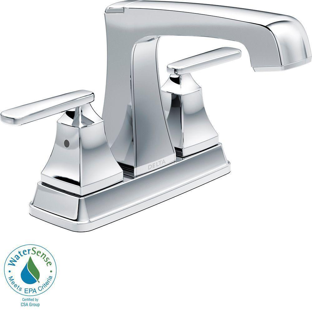 Delta Ashlyn 4 inch Centerset 2-Handle High-Arc Bathroom Faucet in Chrome 685344