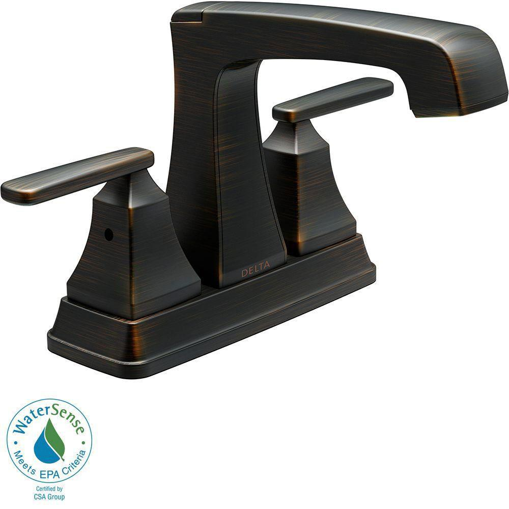 Delta Ashlyn 4 inch Centerset 2-Handle High-Arc Bathroom Faucet in Venetian Bronze 685345