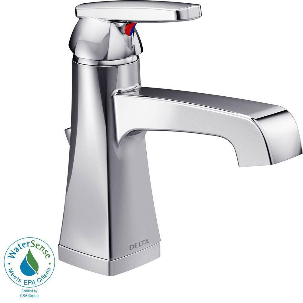 Delta Ashlyn Single Hole 1-Handle High-Arc Bathroom Faucet in Chrome 685350