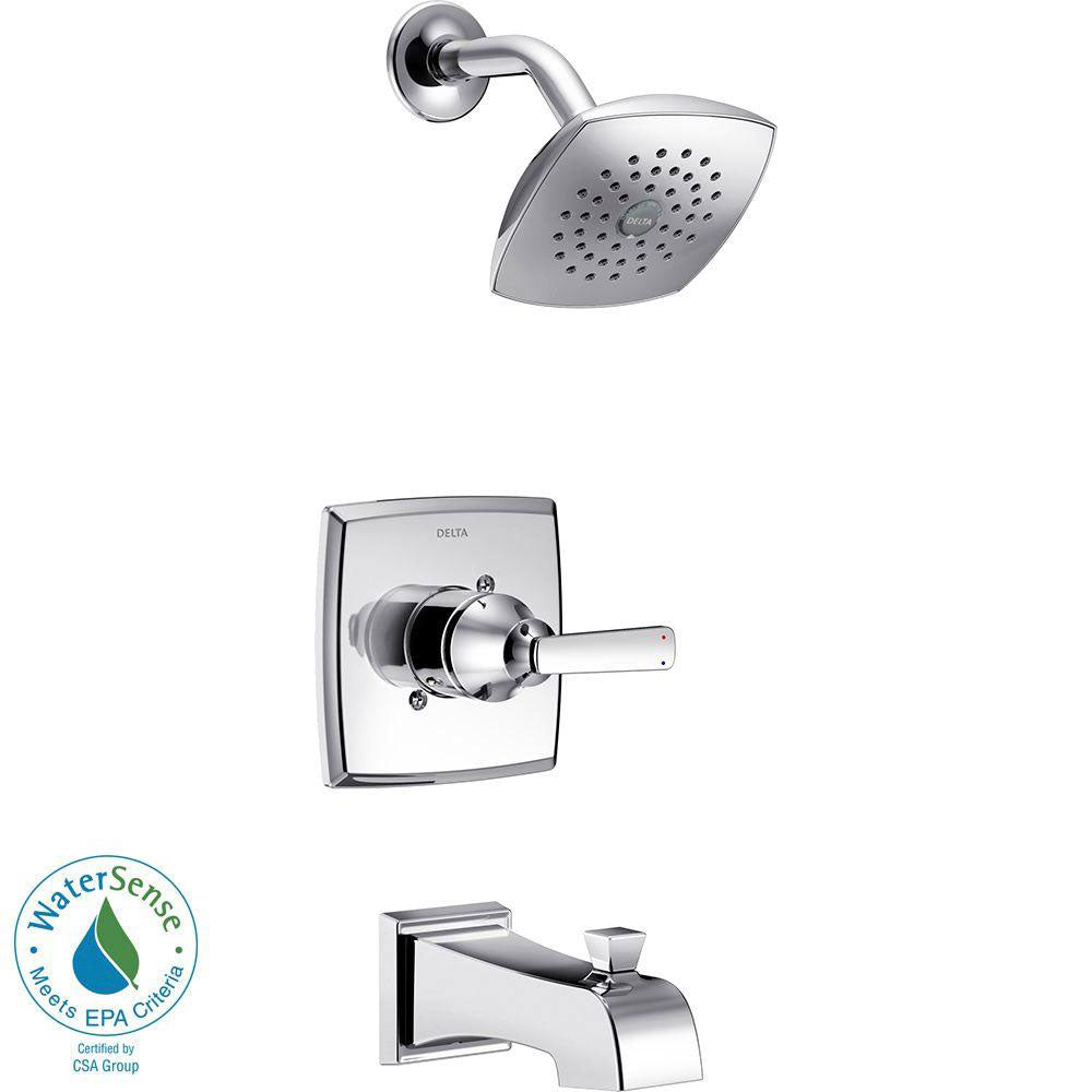 Delta Ashlyn 1-Handle Pressure Balance Tub and Shower Faucet Trim Kit in Chrome (Valve Not Included) 685378