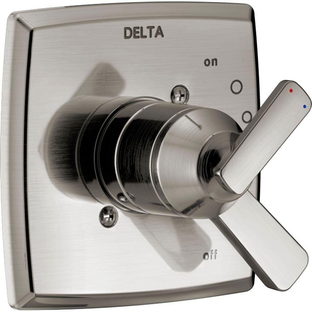 Delta Ashlyn 2-Handle Valve Trim Kit in Stainless Steel Finish (Valve Not Included) 685383