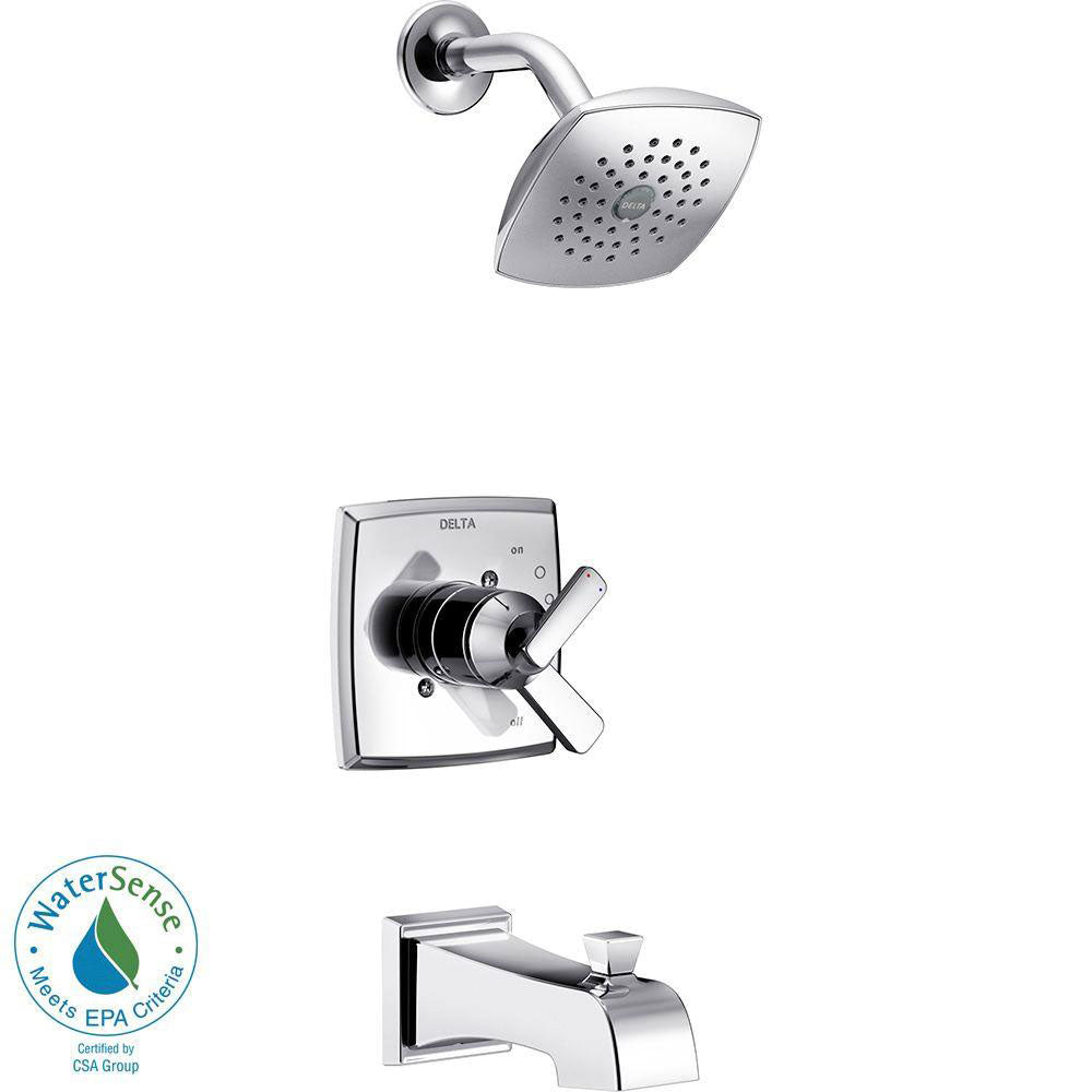 Delta Ashlyn 1-Handle Pressure Balance Tub and Shower Faucet Trim Kit in Chrome (Valve Not Included) 685390