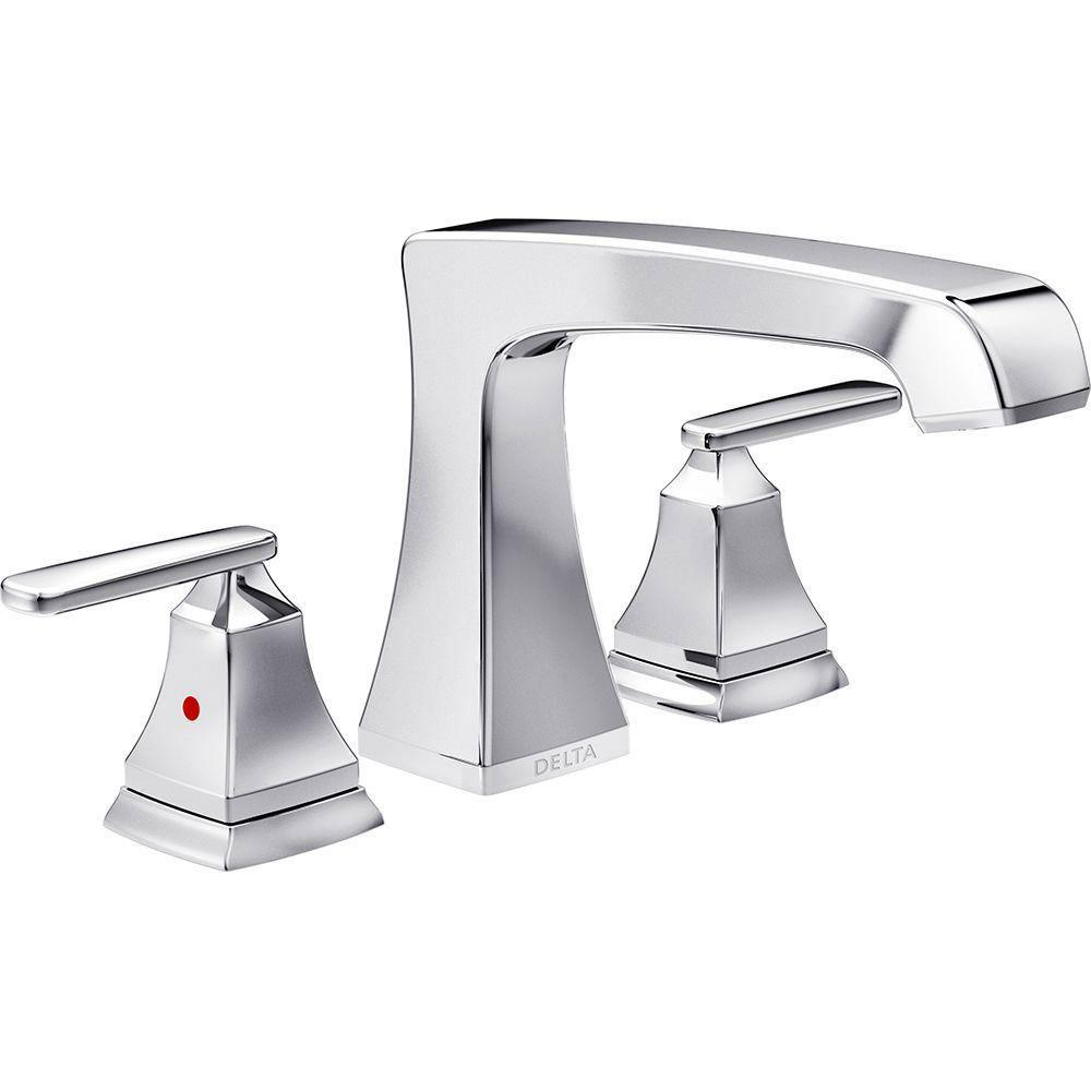 Delta Ashlyn 2-Handle Deck-Mount Roman Tub Faucet Trim Kit in Chrome (Valve Not Included) 685396