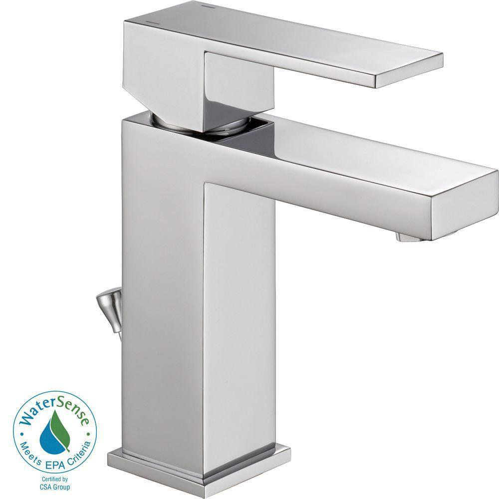 Delta Ara Single Hole 1-Handle Bathroom Faucet in Chrome 702294