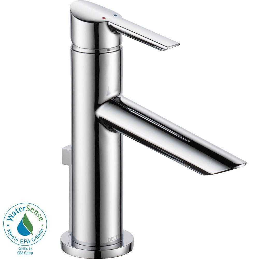 Delta Compel Single Hole 1-Handle Bathroom Faucet in Chrome 702296