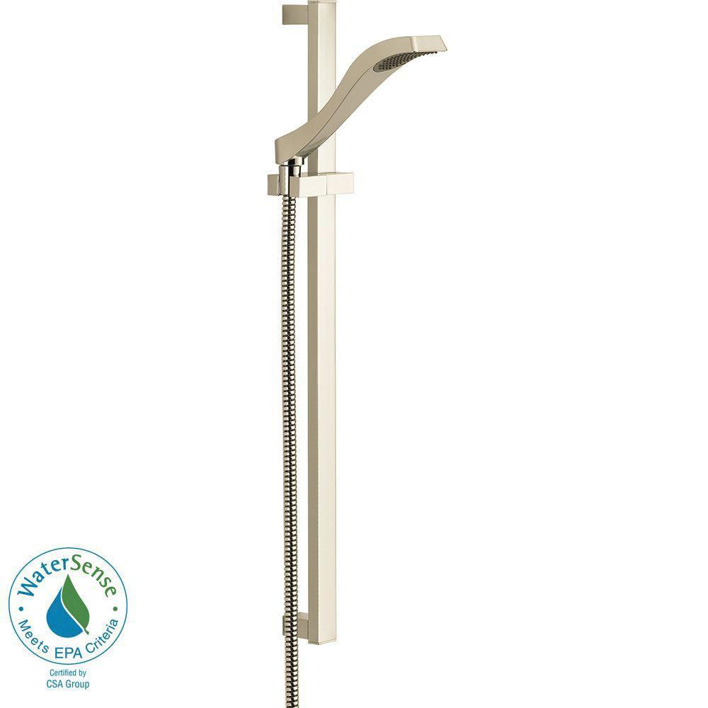 Delta Dryden 1-Spray Handshower with Slide Bar in Polished Nickel 702334