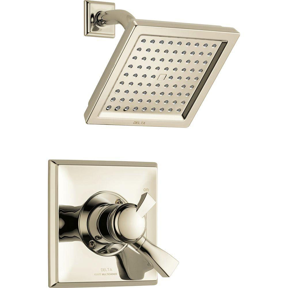Delta Dryden 1-Handle Shower Faucet Trim Kit in Polished Nickel (Valve Not Included) 702343