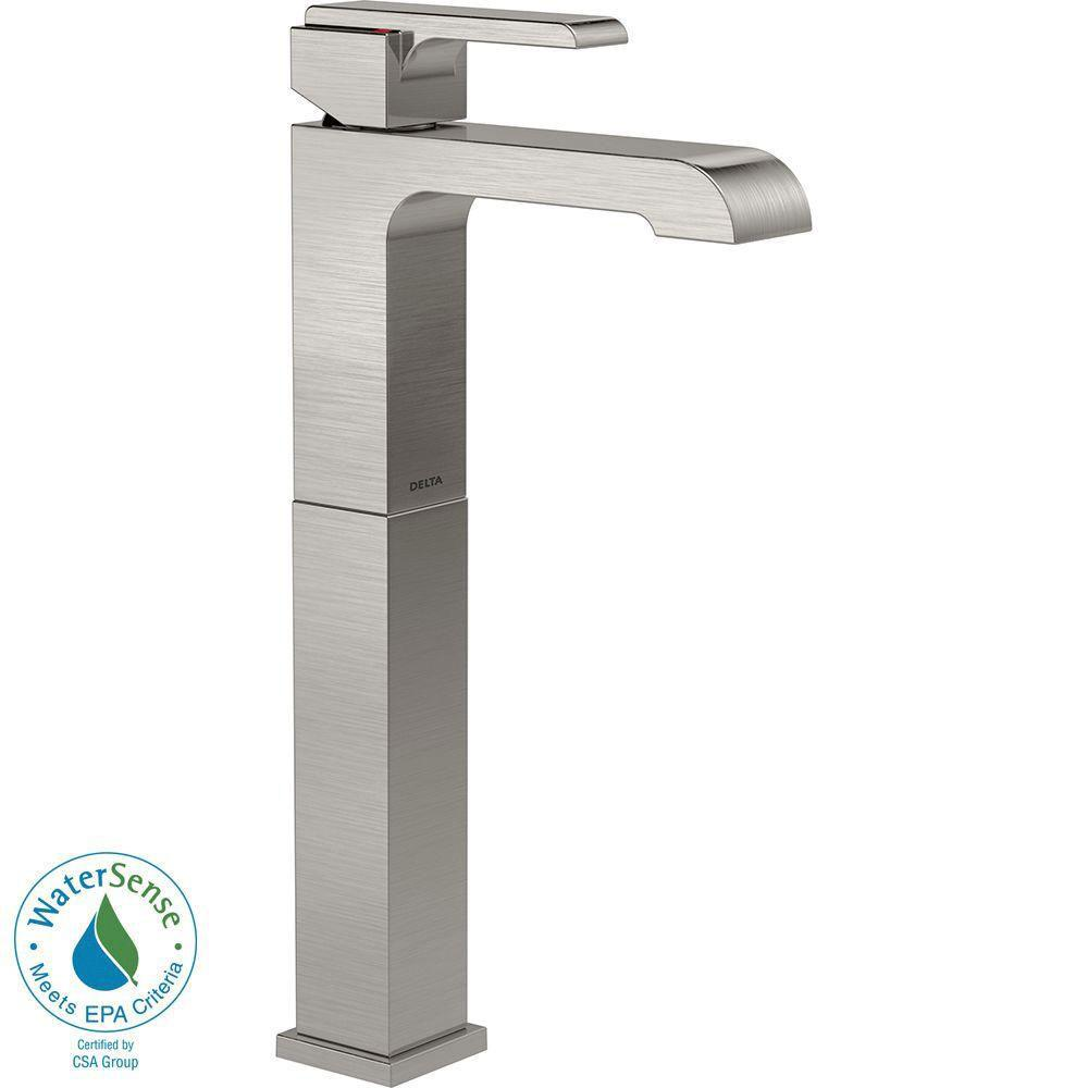 Delta Ara Single Hole 1-Handle Vessel Sink Bathroom Faucet in Stainless 704316
