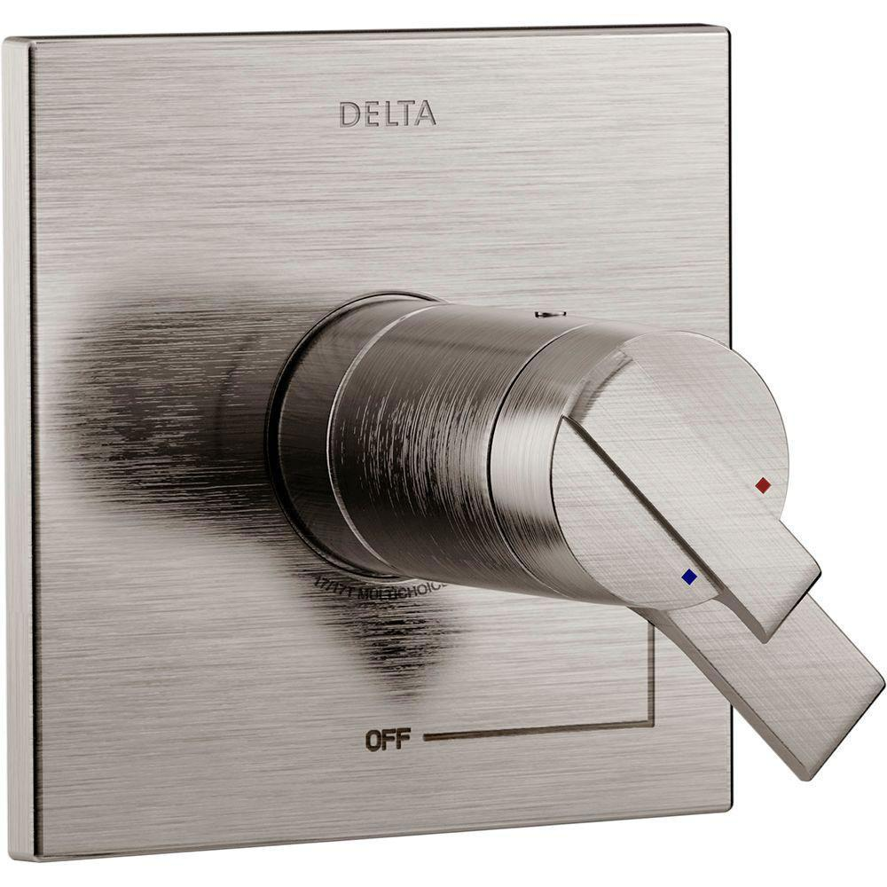Delta Ara TempAssure 17T Series 1-Handle Volume and Temperature Control Valve Trim Kit in Stainless (Valve Not Included) 704322