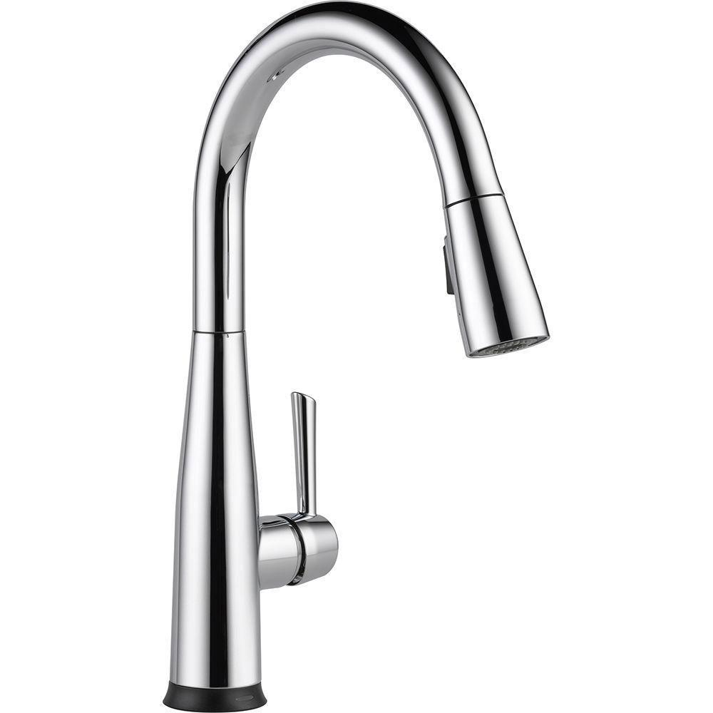 Delta Essa Touch2O Technology Single-Handle Pull-Down Sprayer Kitchen Faucet in Chrome with MagnaTite Docking 718191