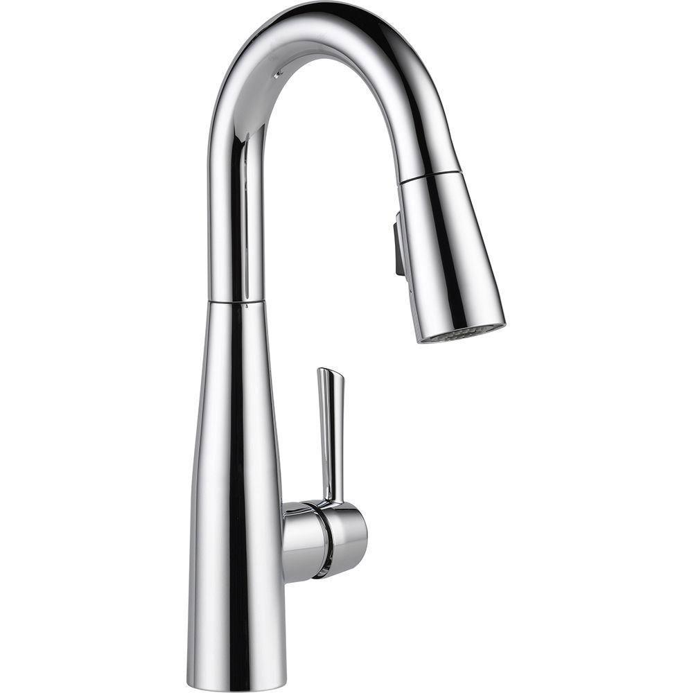 Delta Essa Single-Handle Bar Faucet in Chrome with MagnaTite Docking 718196