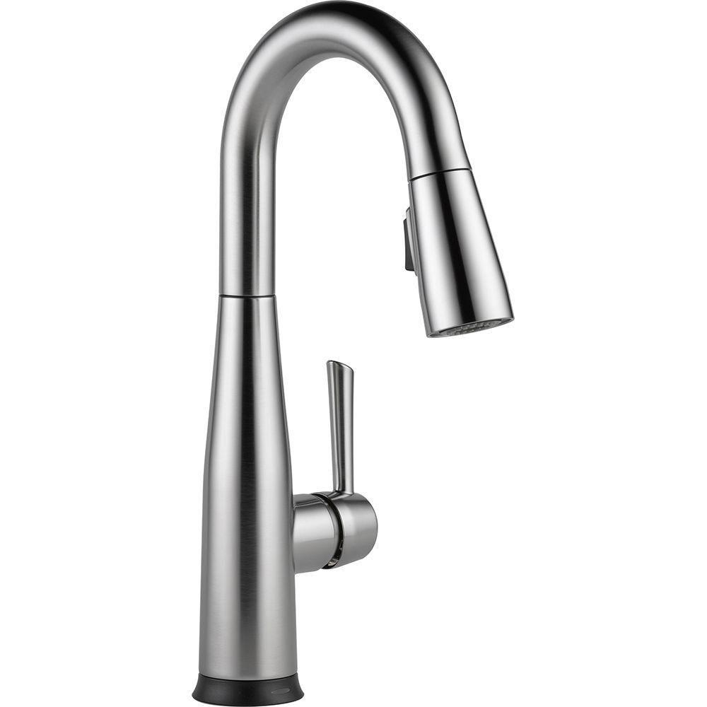 Delta Essa Touch2O Technology Single-Handle Bar Faucet in Arctic Stainless with MagnaTite Docking 718198