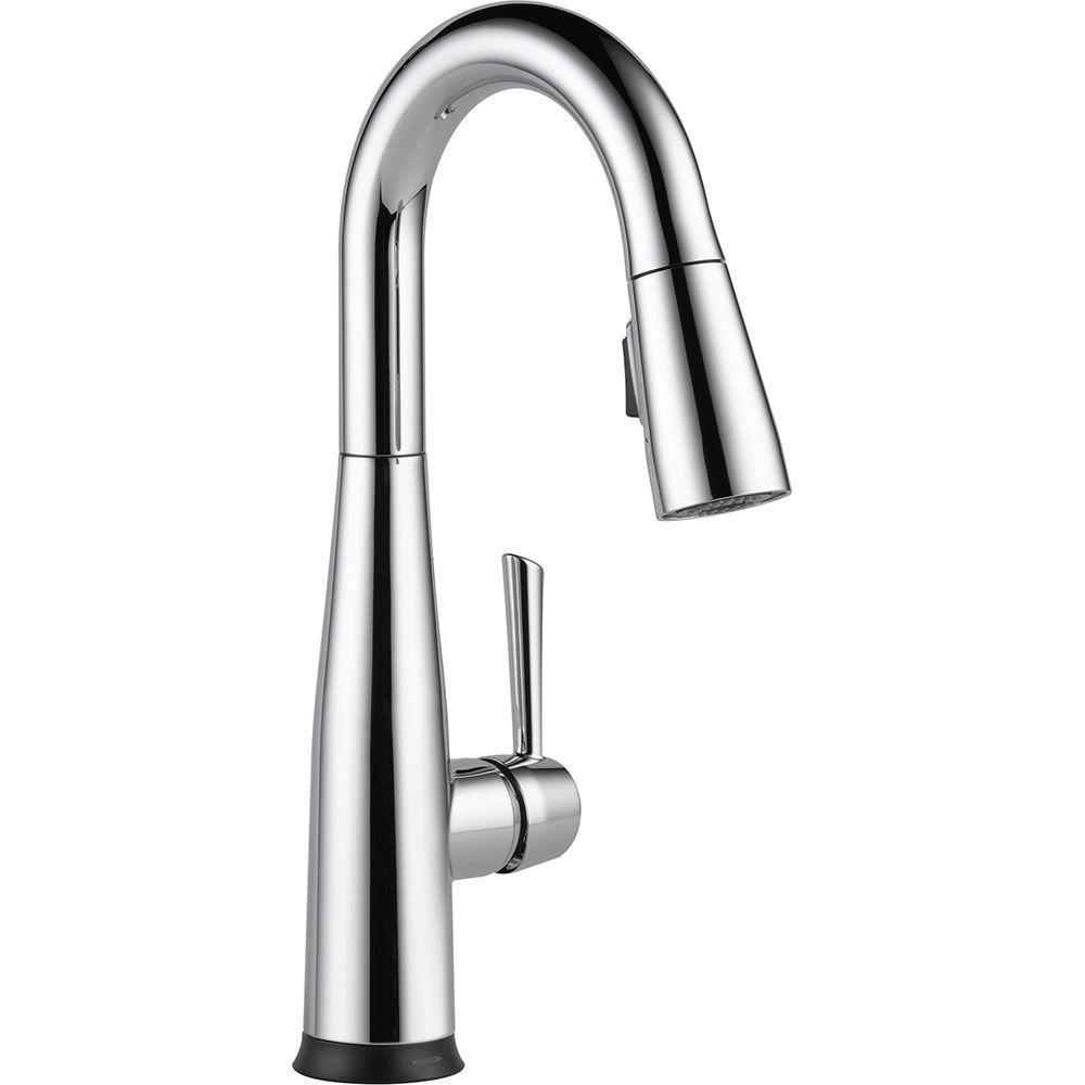 Delta Essa Touch2O Technology Single-Handle Bar Faucet in Chrome with MagnaTite Docking 718200
