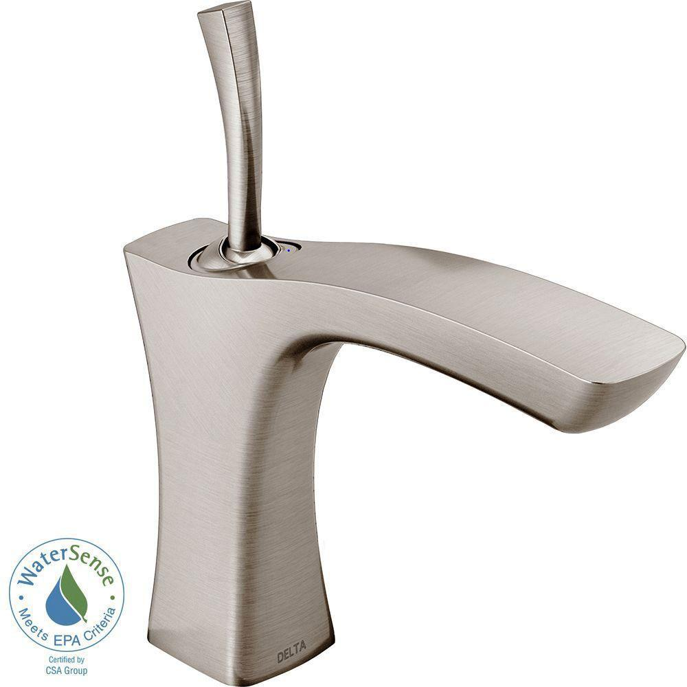 Delta Tesla Single Hole 1-Handle Bathroom Faucet in Stainless 718242