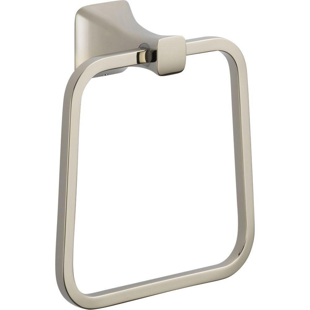 Delta Tesla Closed Towel Ring in Polished Nickel 718259