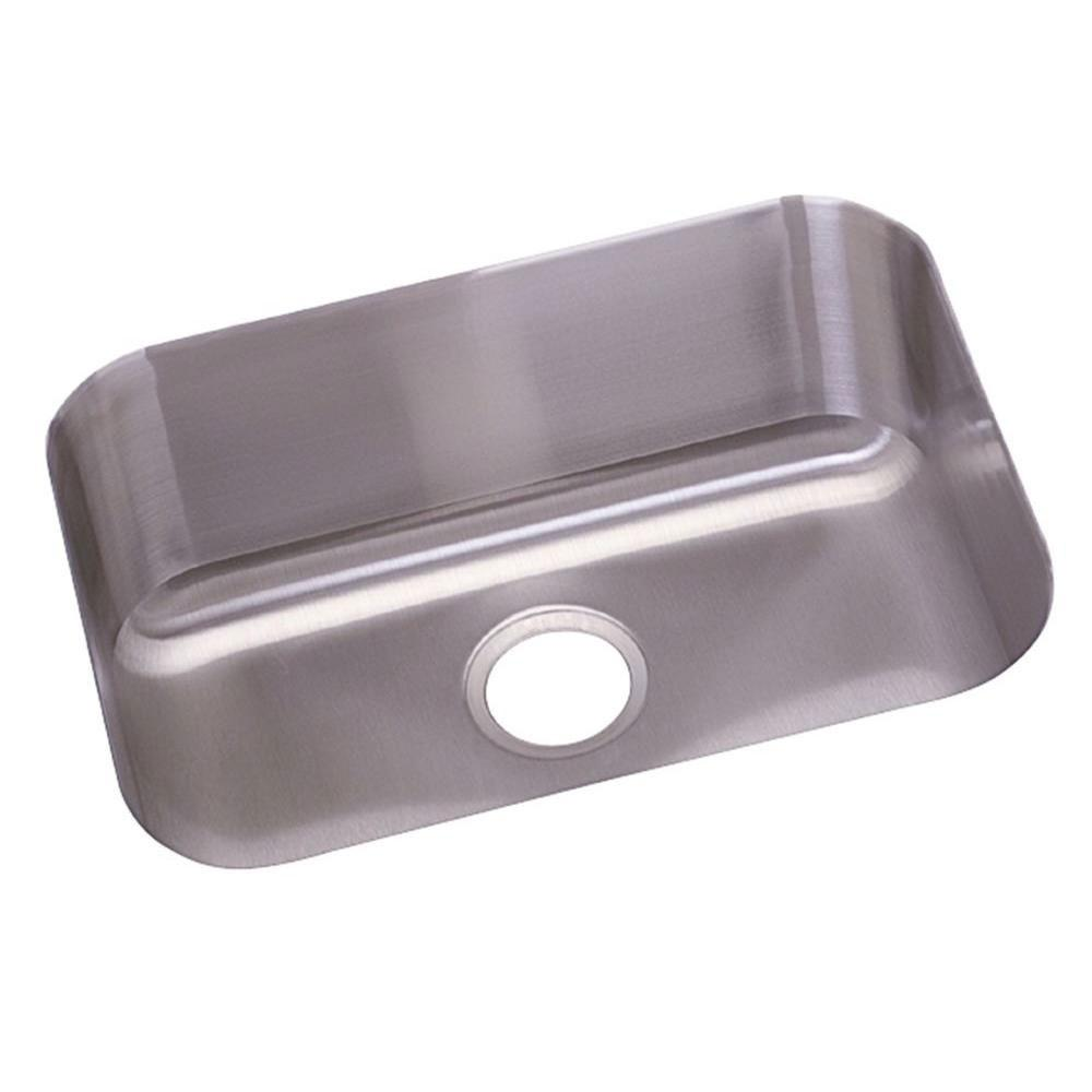 Elkay Dayton Undermount Stainless Steel 23x17.75x8 0-Hole Single Bowl Kitchen Sink in Radiant Satin 242565